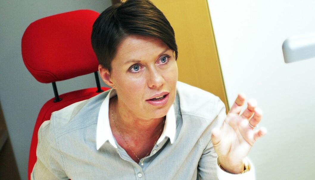 Ina Lindahl Nyrud i Norsk Journalistlag. Foto: Birgit Dannenberg