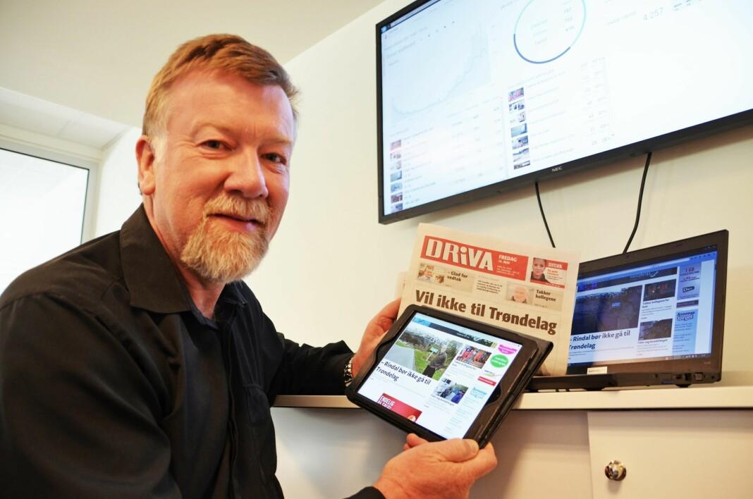 Ansvarlig redaktør Sigmund Tjelle går snart over i pensjonistenes rekker.