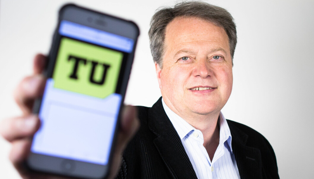 Teknisk Ukeblad, her ved sjef Jan M. Moberg, er en av dem som får innovasjonsstøtte. Foto: Eirik Helland Urke / Teknisk Ukeblad