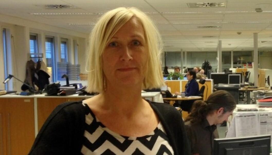 Elin Svendsen gikk nylig av som NJ-klubbleder i Romerikes Blad. Ingen ønsker å etterfølge henne. Foto: Karoline Carlsen