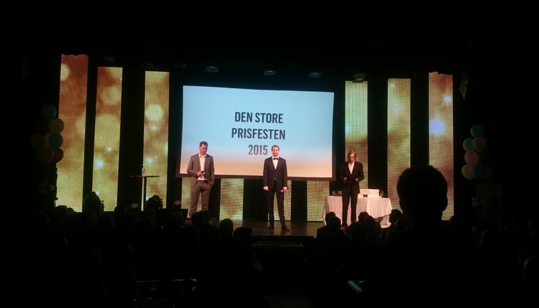 Raske Menn innledet Den store prisfesten onsdag kveld. Foto: Glenn Slydal Johansen
