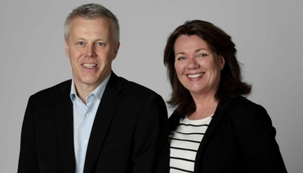 Nye ledere i Egmont Publishing: Rino Rådahl og Anne Lise Gjetvik. Foto: Egil Nordlien