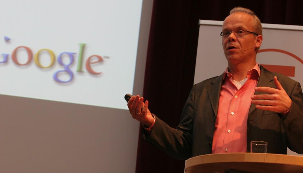 Google-sjef Jan Grønbech mener medie-fondet viser selskapets vilje til samarbeid. Foto: Birgit Dannenberg