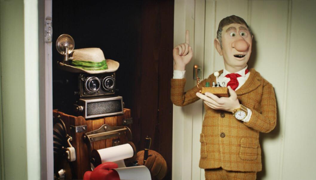 Robotjournalistene banker på døra. Her fra Flåklypa. Foto: Maipo Film
