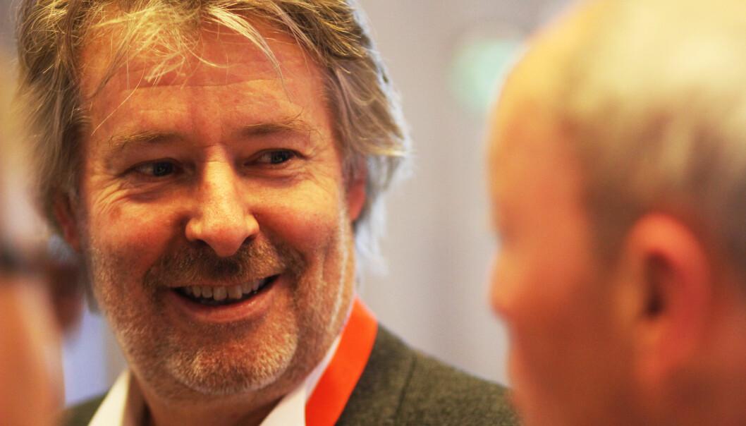 Torry Pedersen leder et digitalt mediehus som ifølge ham selv gir ut papiravis så lenge det er lønnssomt. Også på søndager. Foto: Martin Huseby Jensen