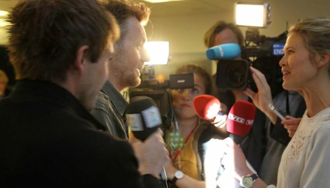 Fredrik Skavlan ankommer torsdagens møte i Kringkastingsrådet. Foto: Glenn Slydal Johansen
