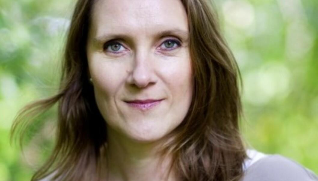 Konserntillitsvalgt Eva Stenbro er bekymret over Amedias salg av mediebedrifter. Foto: Lisbeth Andresen