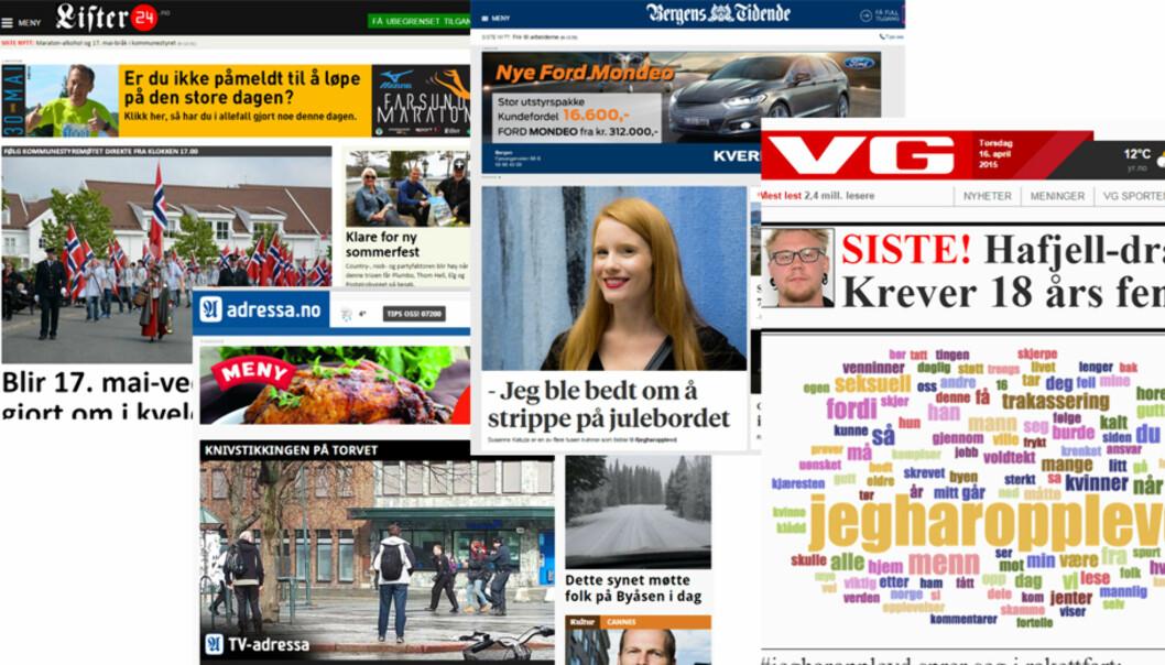 Lister24, Adressa, BT og VG sine nettsider er alle nominert til årets nettsted.