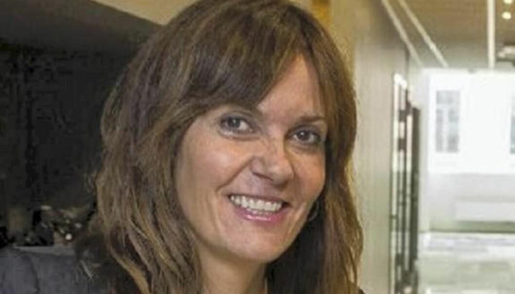 Ansvarlig redaktør Kristin Monstad i Drammens Tidende h dt TNS Gallup også måle konkurrentens lesertall. f0to: Drammens Tidende