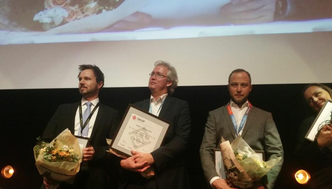 Aftenposten fikk pris for Mobilovervåkingen. Foto: Martin Huseby Jensen