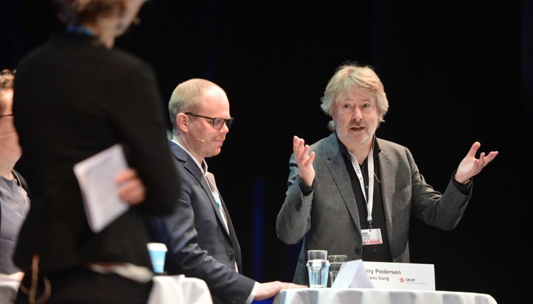 VG-sjef Torry Pedersen måtte svare for manglende premier de siste årene på Skup. Foto: Marius Nyheim Kristoffersen/Skup