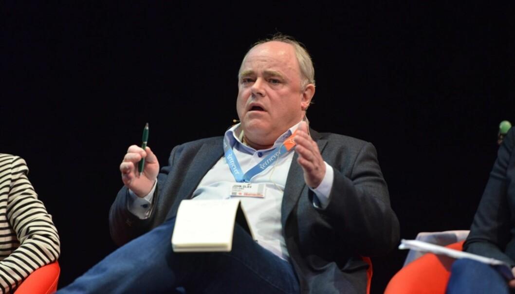 John Olav Egeland på Skup-konferansen fredag. Foto: Martin Huseby Jensen
