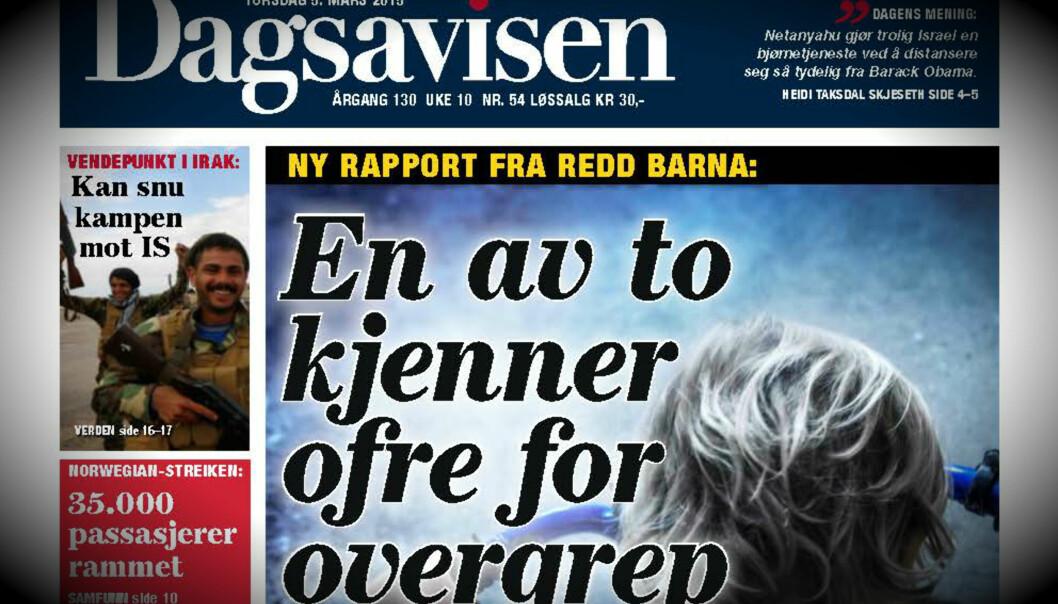 Dagsavisens forside 5. mars