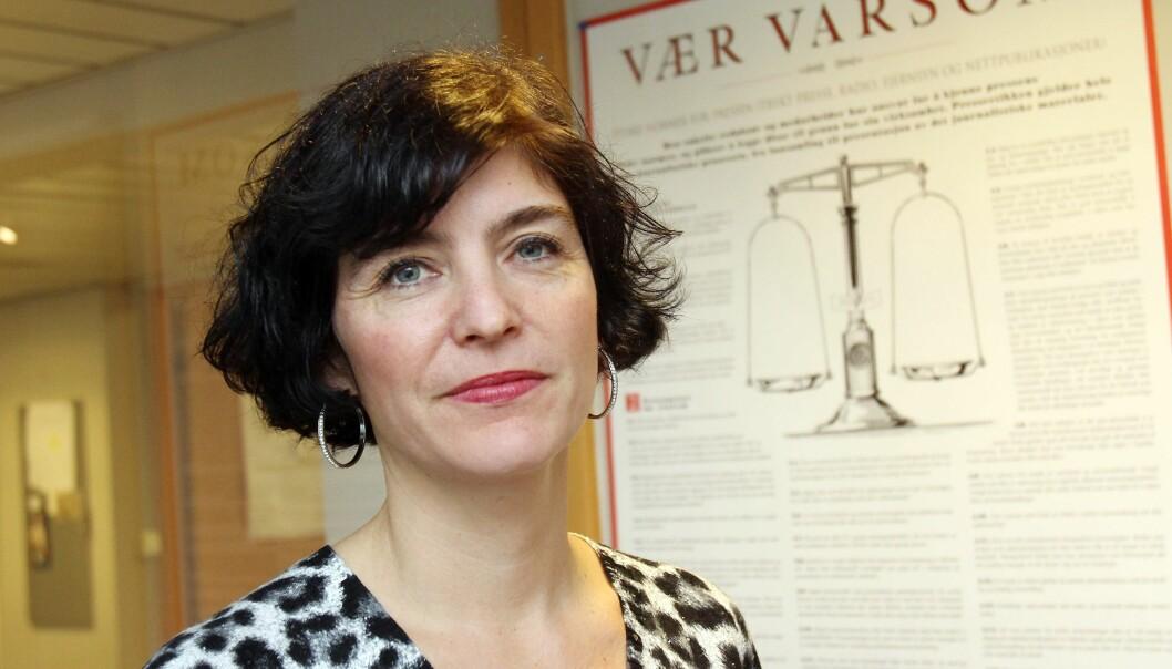 Kjersti Løken Stavrum oppfordrer redaksjonene til å legge mer vekt på den faglige verdien av å komme seg ut og dokumentere hendelser i tekst og bilder. Foto: Birgit Danneberg