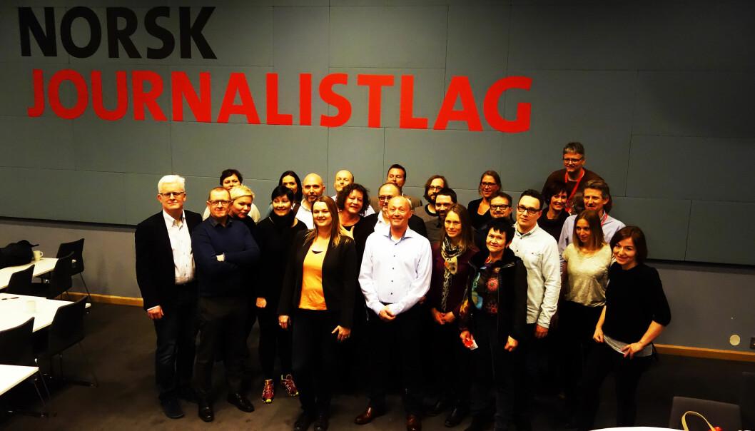 NJs landsstyre som valg på siste landsmøte i mars 2015. Foto: Trond Idås