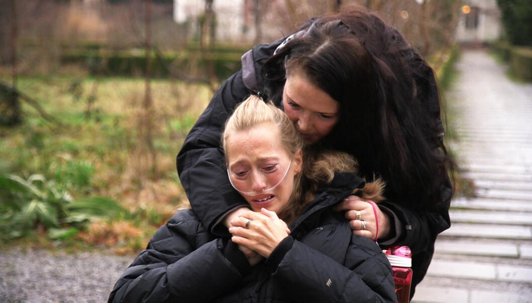 Fra Brennpunkt-dokumentaren om lungesyke Siv Tove Pedersen forrige uke. Foto: Hans Erik Lindbom NRK