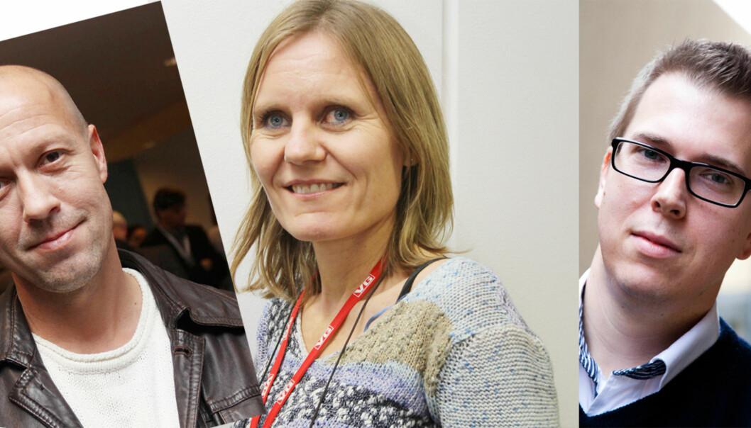Per Arne Kalbakk, Helje Solberg og Eirik Hoff Lysholm kappes om å bli åreets Oslo-redaktør.