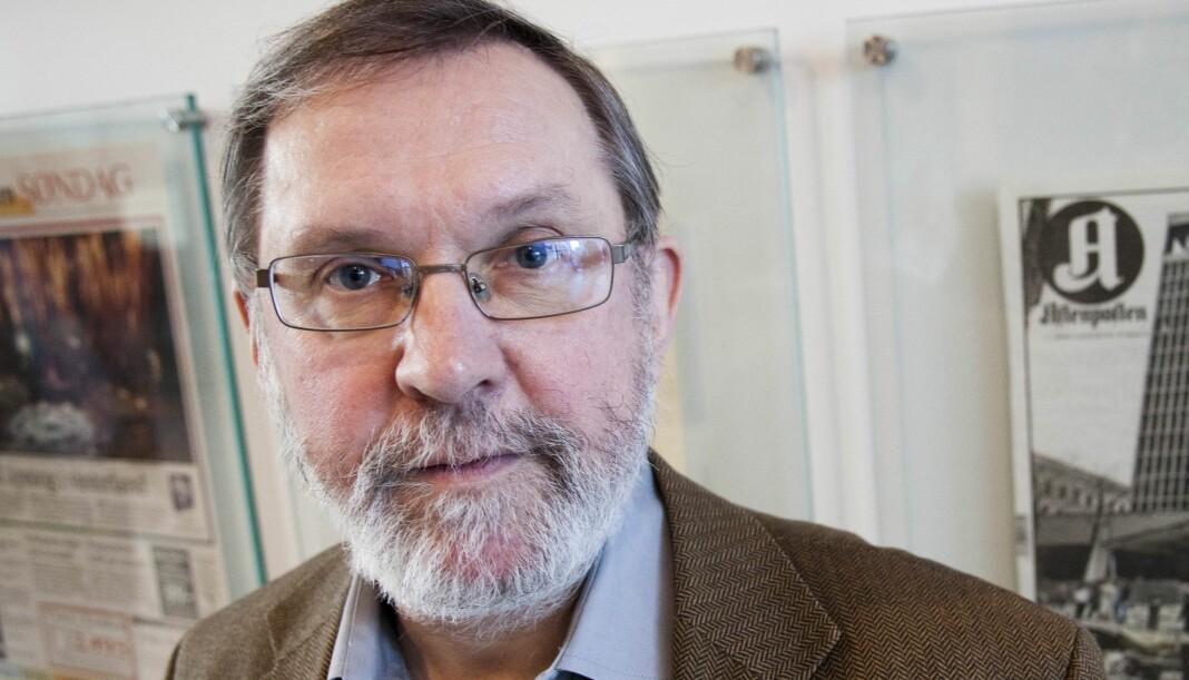 Harald Stanghelle blir delvis pensjonist, men skal fortsatt skrive for Aftenposten. Arkivfoto: Kathrine Geard