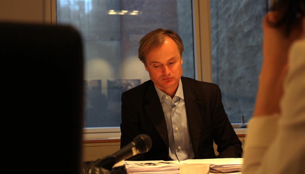 Øystein Stray Spetalen skulle egentlig blitt værende på gangen da PFU behandlet klagen mot Dagbladets reklamevideo for Forsvaret. Foto: Martin Huseby Jensen