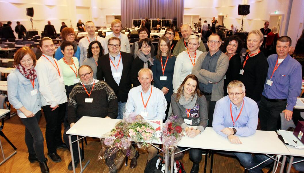 Dagens landsstyre etter valget under NJs landsmøte for to år siden. Foto: Birgit Dannenberg
