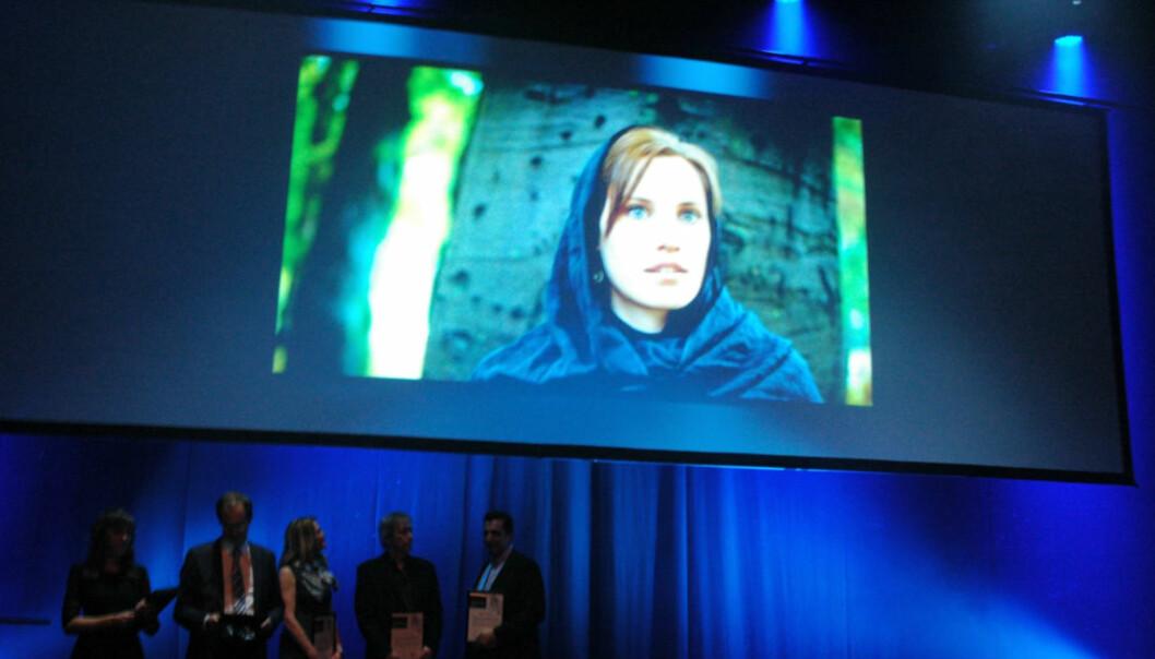 Kristin Solberg ble tildelt IR-prisen under festmiddagen på Skup-konferansen 2014. Foto: Andreas H. Lunde