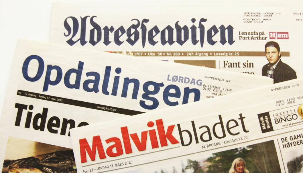 Blant kjøpene Adresseavisen nå gjør er Opdalingen og Malvikbladet. Foto: Martin Huseby Jensen