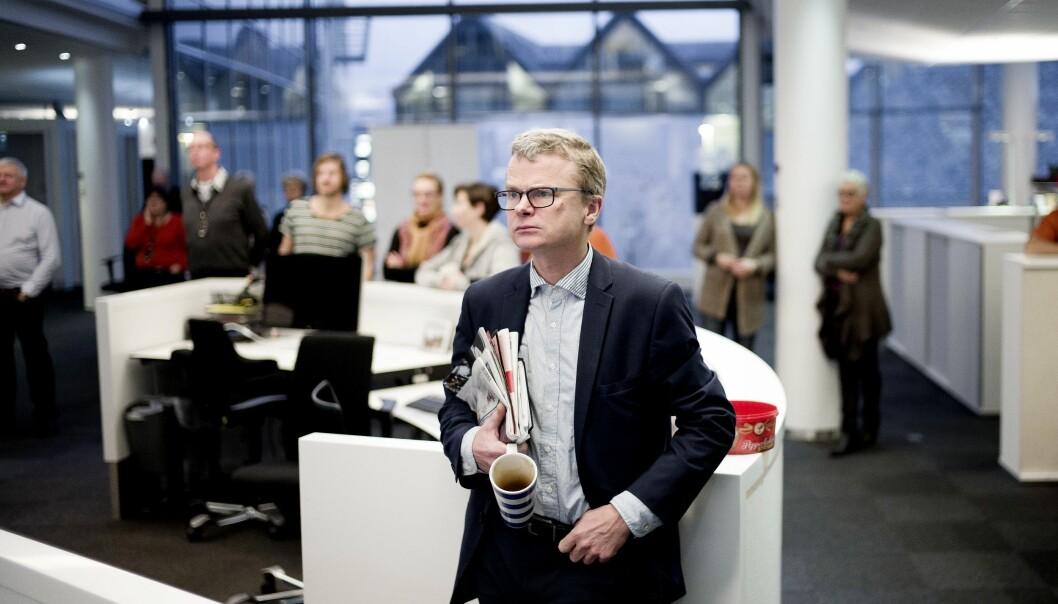 Sjefredaktør Lars Helle mener at Aftenbladet i lengden ikke har råd til sluttpakker. Foto: Jan Inge Haga