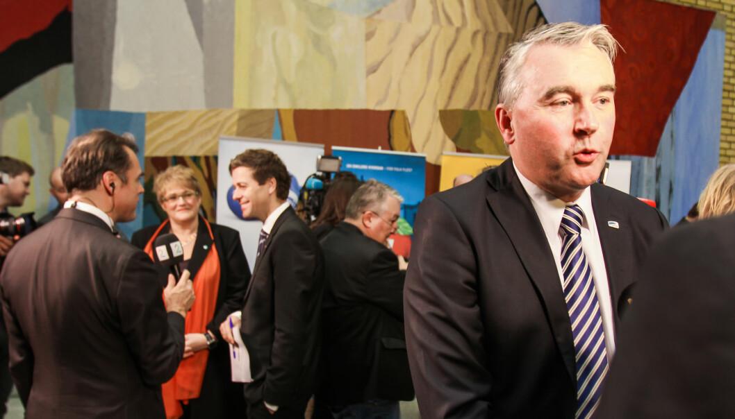 Mediepolitisk talsmann Trond Helleland i Høyre vil ikke legge slaget om produskjonstilskudd bak seg. Foto: Kathrine Geard.