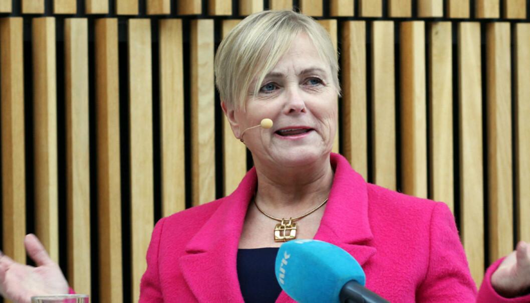 Kulturminister Thorhild Widvey har fått analysegrunnlag for å sikre den framtidige finansieringen av NRK. Foto: Birgit Danneberg
