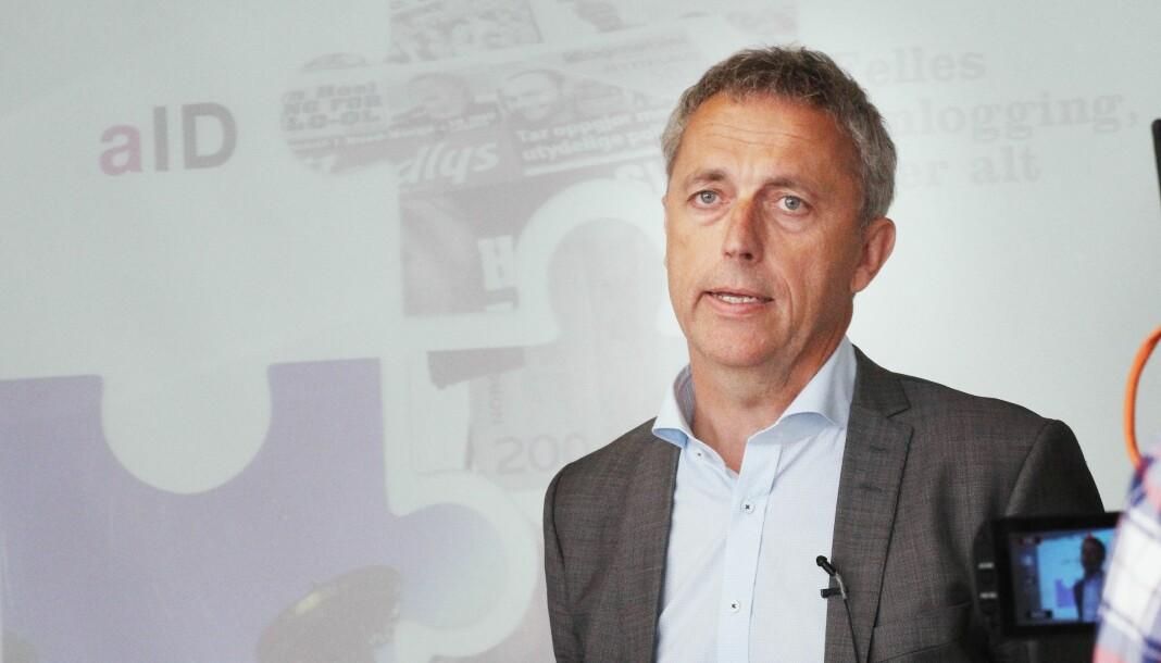 Amedia har kjøpt 20 prosent av et svensk lokalaviskonsern. Her ved konsernsjef Are Stokstad i Amedia. Arkivfoto: Birgit Danneberg