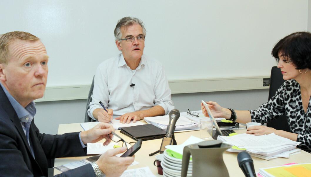 PFU-møte med Schjenken, f.v. Alexander Øystå, Alf-Bjarne Johnsen og Kjersti Løken Stavrum. Foto: Birgit Dannenberg
