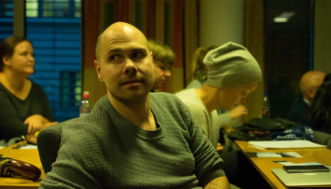Anders Opdahl virket ettertenksom før han skulle forsvare og forklare Buzzit på NONA-møtet. Foto: Helge Øgrim