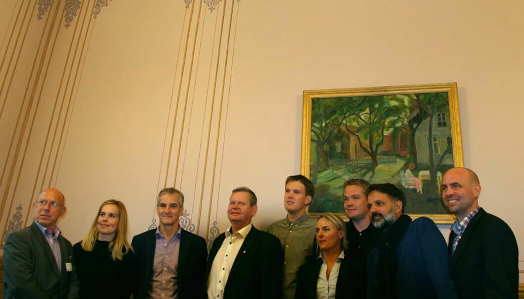 Utvalget som skal hjelpe Arbeiderpartiet med fremtidens mediepolitikk. FOTO: Martin Huseby Jensen