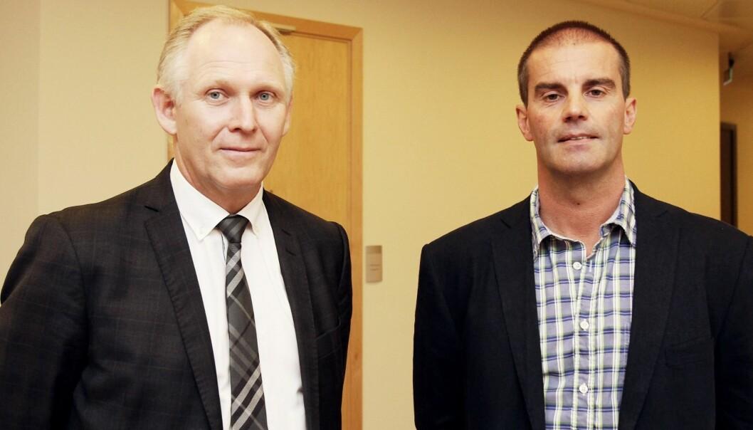 Advokat Rune Gaustad (t.v.) og hans klient Morgan Andersen vant fram i Borgarting lagmannsrett. Foto: Birgit Dannenberg