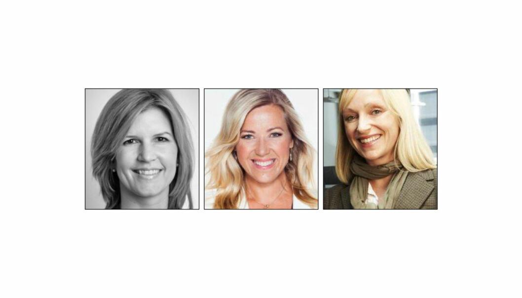 Finalistene: Fra venstre Veslemøy Tvedt Fredriksen, Jane Throndsen og Gunn Helen Hagen.