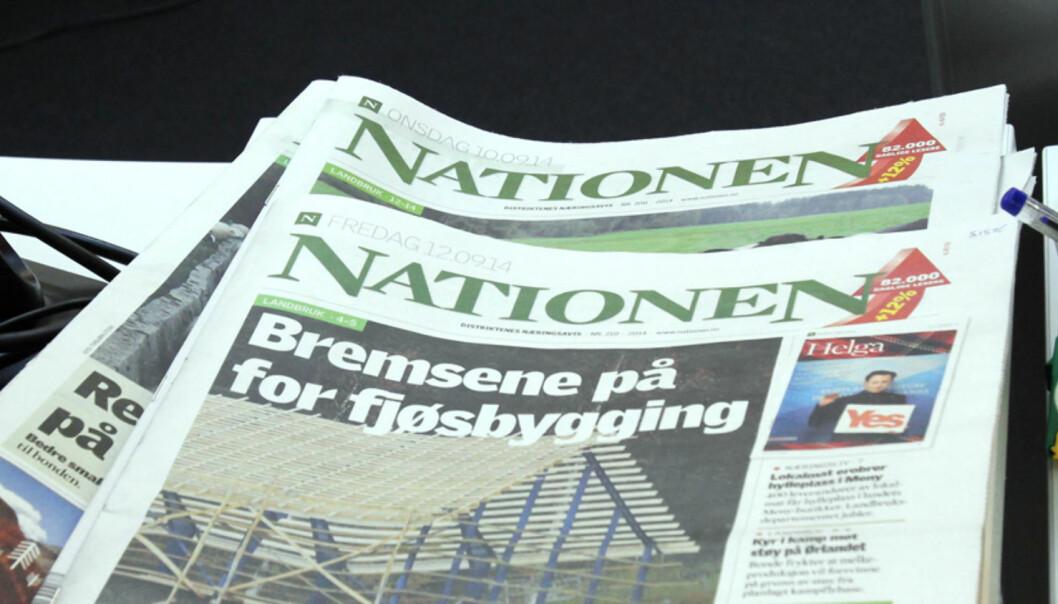 Nationens ansvarlige redaktør er misfornøyd med tildelingen av produksjonstilskudd. Foto: Birgit Dannenberg