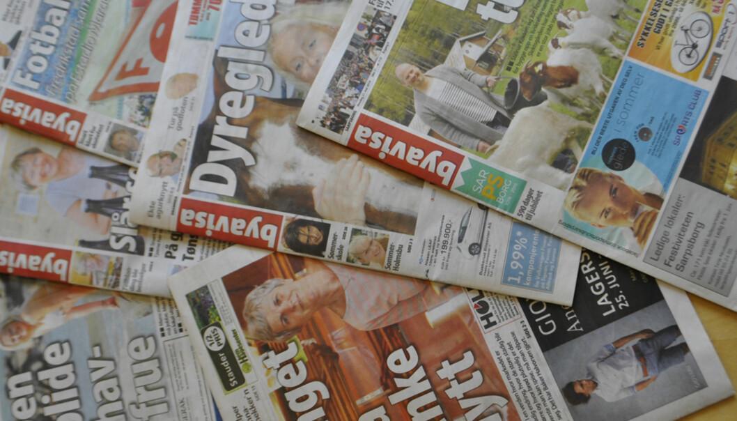 Samtlige av gratisavisene til Lundquist Media hadde omsetningssvikt i fjor, men i år øker reklameinntektene. Foto: Geir A. Arneberg, Byavisa Drammen