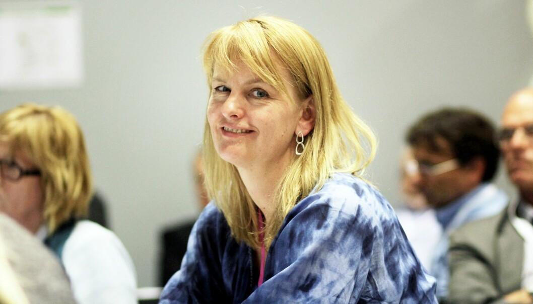 MBL-direktør Randi S. Øgrey er uenig med Skattedirektoratet i at mediene skal kreve moms ved kjøp av enkeltartikler. Foto: Birgit Danneberg