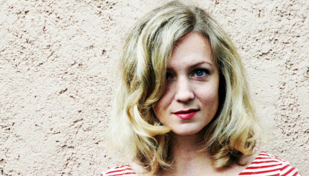 GLAD: Dagbladets Inger Merete Hobbelstad gir den lykkelige frilanser et ansikt. Foto: Aslaug Olette Klausen