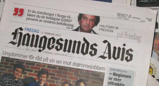 Haugesunds Avis har kuttet 39 millioner kroner
