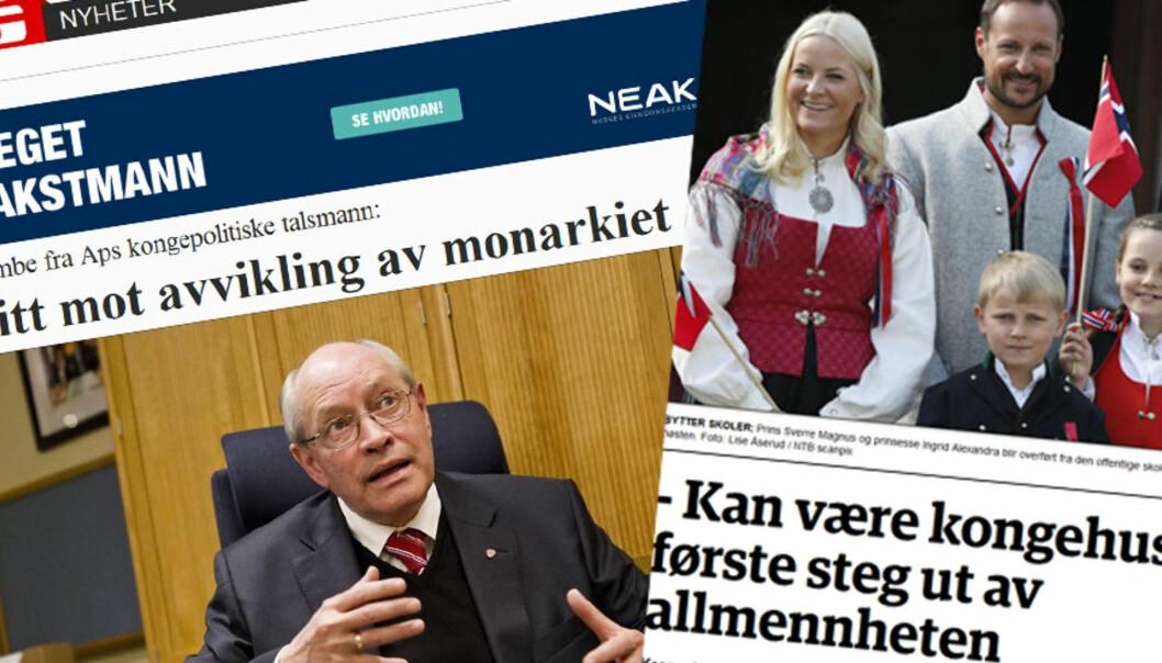 Kronikkforfatter Ståle Lindblad trekker tabloidmedienes overskrifter om kronprinsbarnas skoleskift fram som suppe kokt på spiker