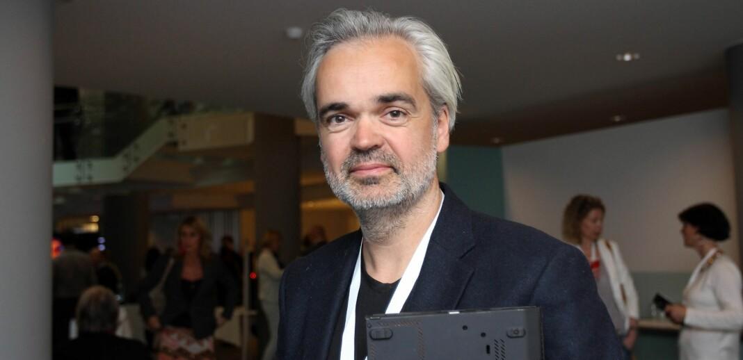 Sjefredaktør Eivind Ljøstad gleder seg over historiske abonnementstall i Fædrelandsvennen. Arkivfoto: Birgit Dannenberg