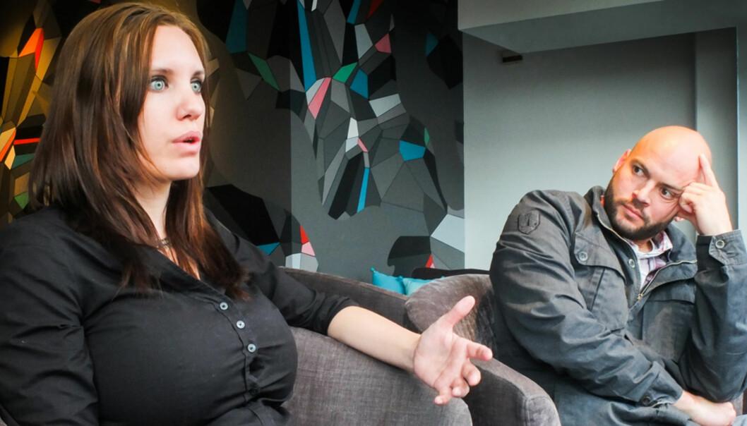 PRISVINNERE: De to frilanserne Kristin Solberg og Anders Sømme Hammer velger begge å bo fast i konfliktområdene de rapporterer fra. Foto.Kathrine Geard