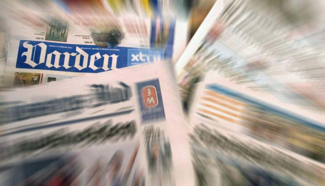 A-pressen fikk beholde de fleste avisene, men måtte selge Demokraten og Varden før de fikk danne Amedia. Illustrasjon: Journalisten