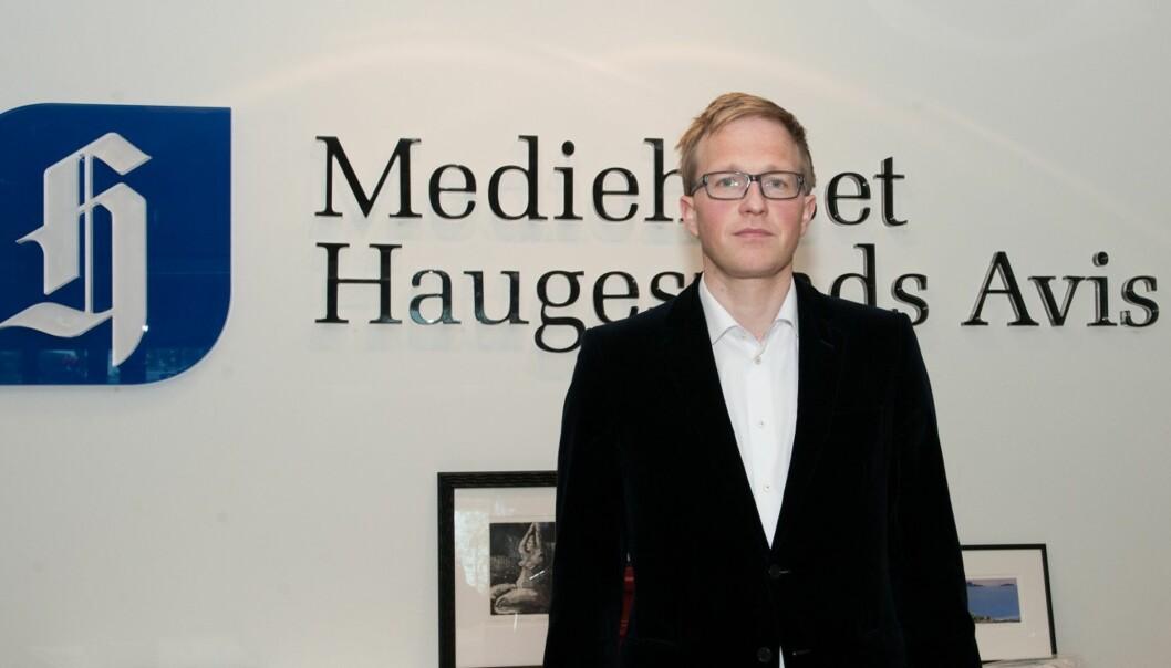 Administrerende direkktør og ansvarlig redaktør Jan Tore Hamnøy fastholder at annonseomslaget var et presseetisk grundig håndverk. Foto: Kristian Eidesvik