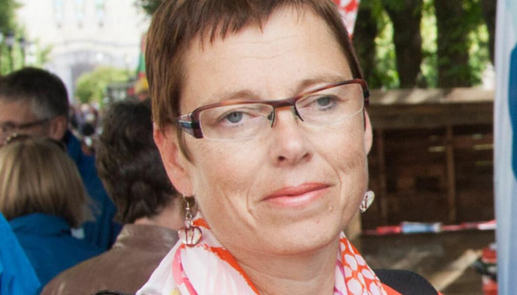 Konserndirektør Mari Velsand i Amedia. Foto: Kathrine Geard
