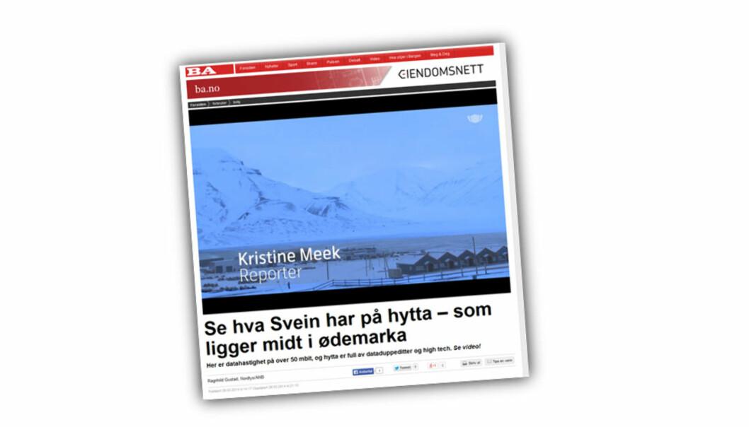 Lederen for presse- og kommunikasjonssenteret til Telenor Norge ble av blant annet Bergensavisen og Nordlys presentert som reporter.