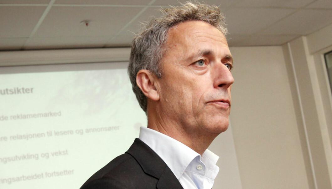 Konsernsjef Are Stokstad i Amedia må kutte kostnadene kraftig innen utgangen av 2014. Foto: Birgit Dannenberg