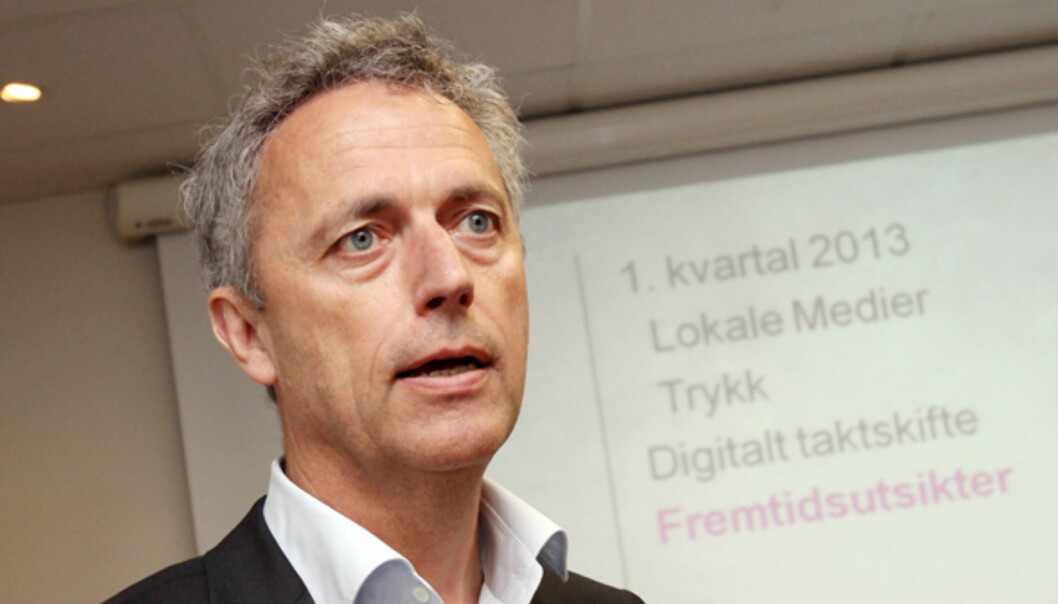 Konsernsjef Are Stokstad i Amedia. Foto: Birgit Dannenberg