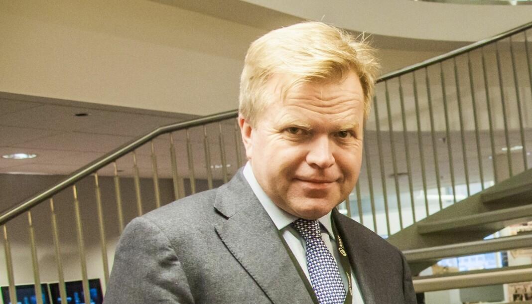 HÅPER PÅ OPPTUR: Konsernsjef Gunnar Bjørkavåg ser lysere på utsiktene for NHSTs tapsprosjekter. Foto: Kathrine Geard